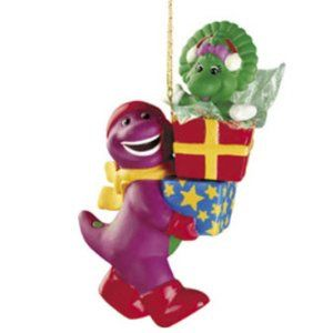 Barney The dinosaur & Baby Bop holiday ornament